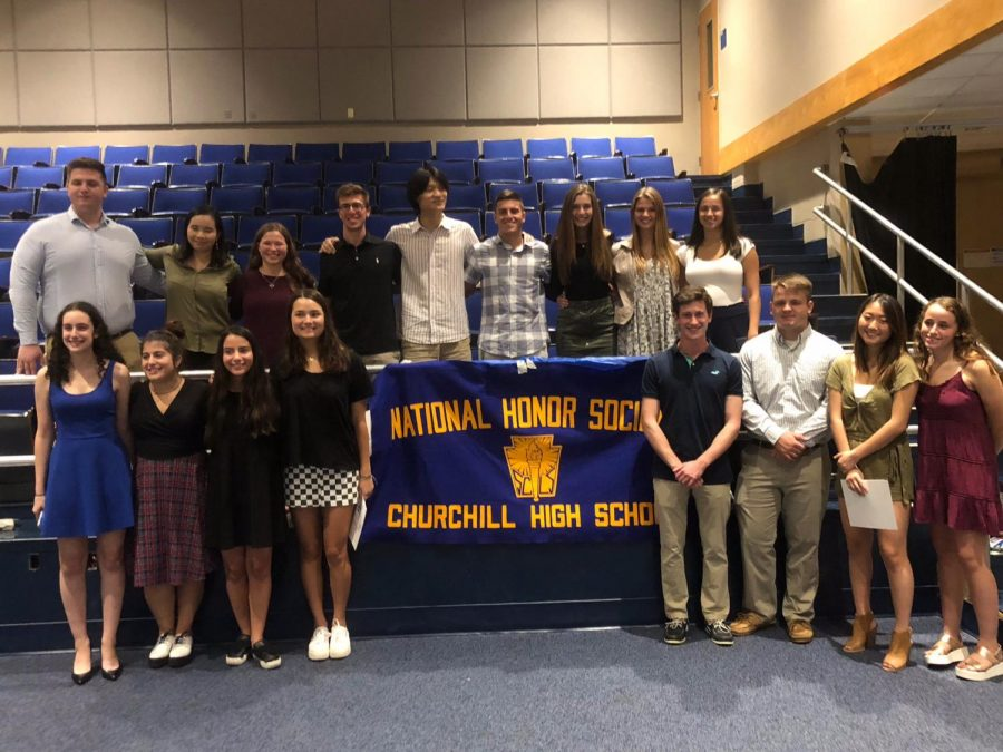 NHS inducts new class of bright members