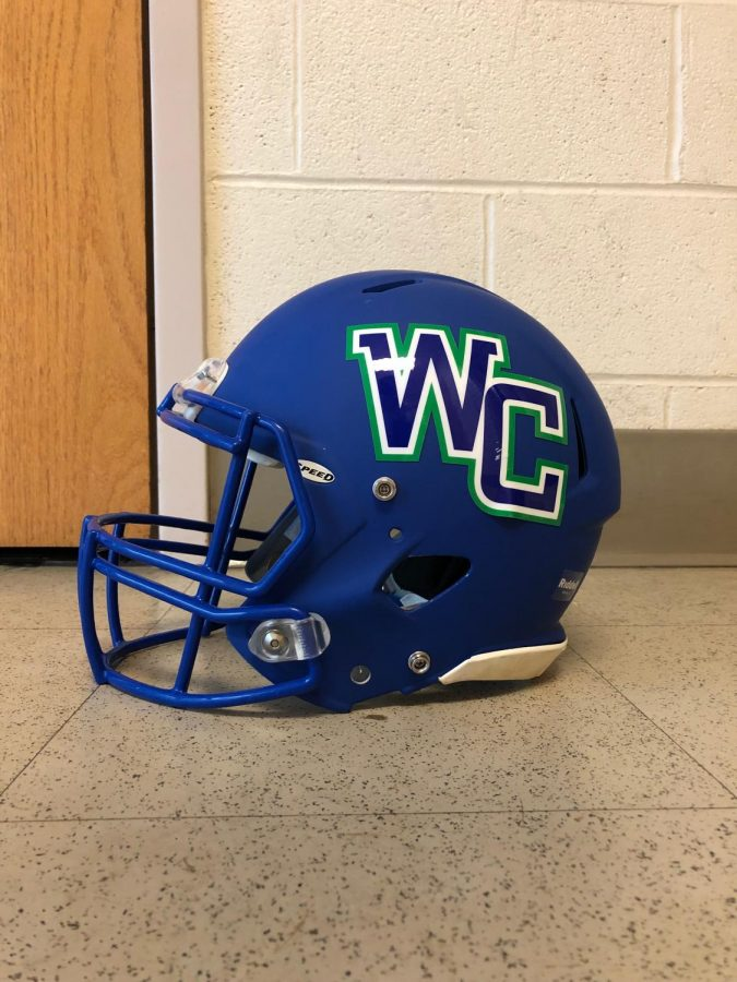 The new WCHS logo is donned on the uniforms of the WCHS varsity football team.