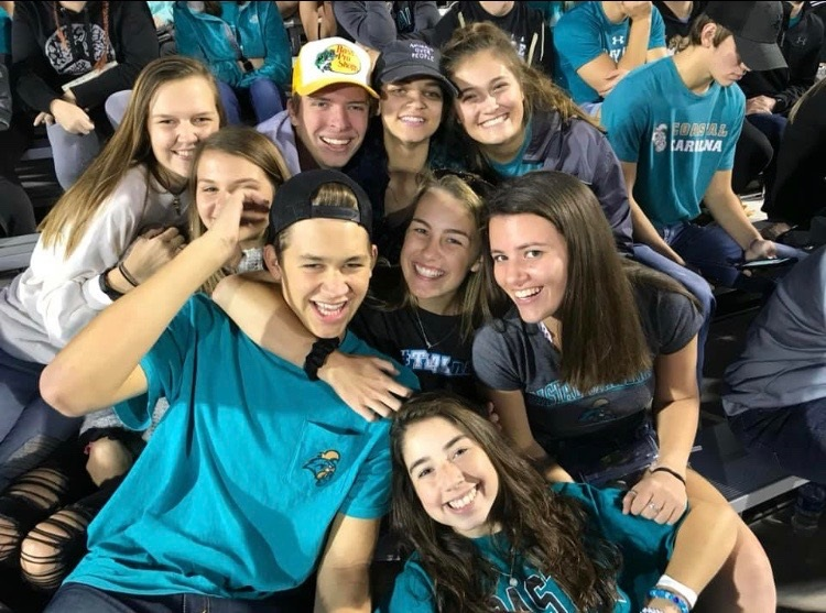 WCHS Class of 2018 alumna Francesca Moore and her friends attended a football game at Coastal Carolina University in Myrtle Beach, South Carolina.