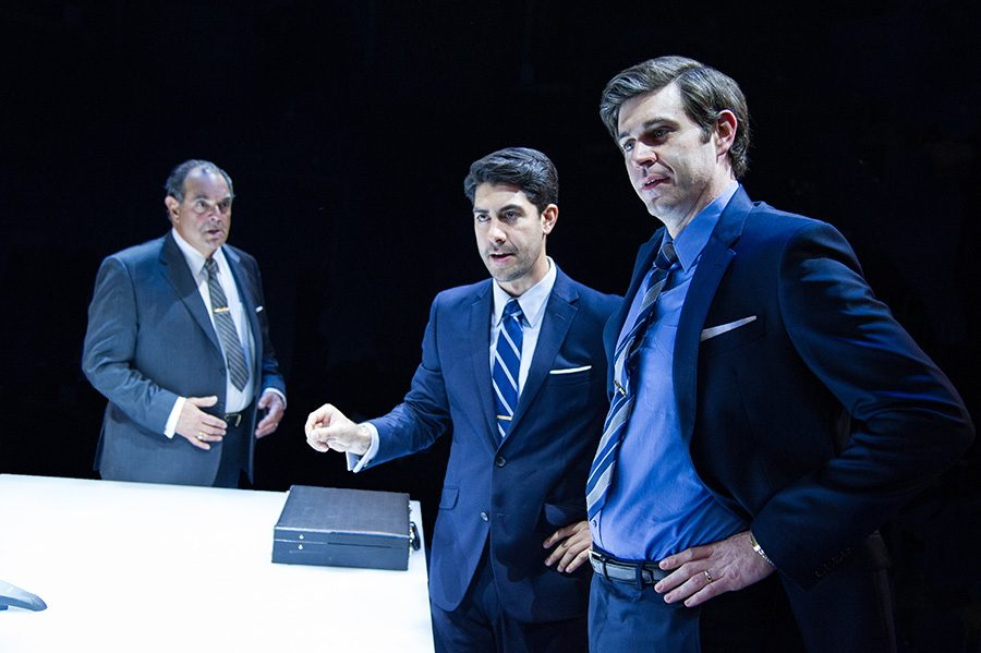Junk, Ayad Akhtars Shakespearean paced satire, masterfully grips the audience and keeps this grip from scene to scene, while also packing in rife subtext critiquing moneys chokehold on our culture.