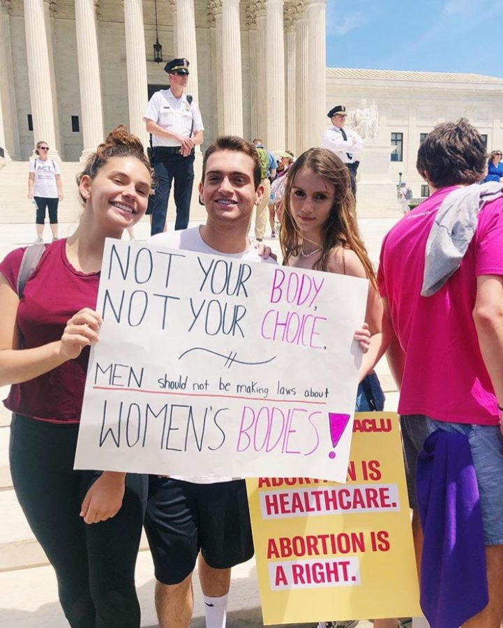 WCHS+Students+Caitlyn+McCabe%2C+Ethan+Greenstein%2C+and+Jackie+Verba+attended+the+protest+for+abortion+rights+in+DC+on+Tuesday+May+21st.