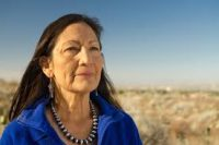 Deb Haaland, of Native American heritage, ran for Congress in 2018 representing New Mexico.