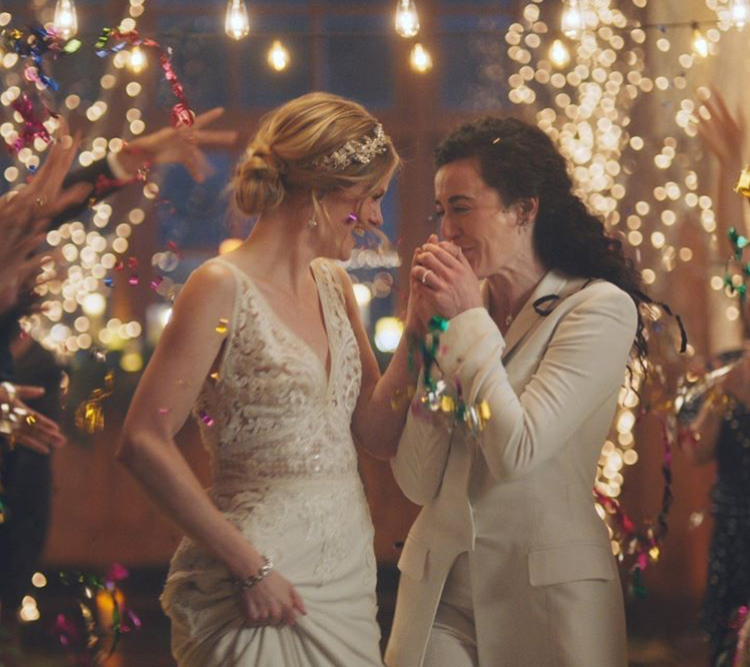 The commercial for Zola, a wedding registry company, featured a same-sex couple tying the knot. This celebration of love was torn apart by
