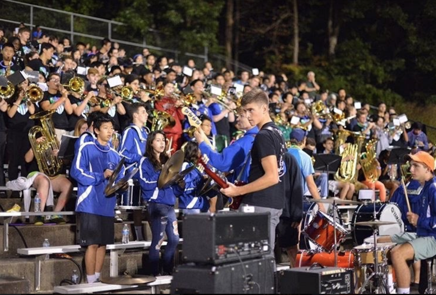 WCHS home football games would not be complete without Pep Band cheering on our fellow Bulldogs.