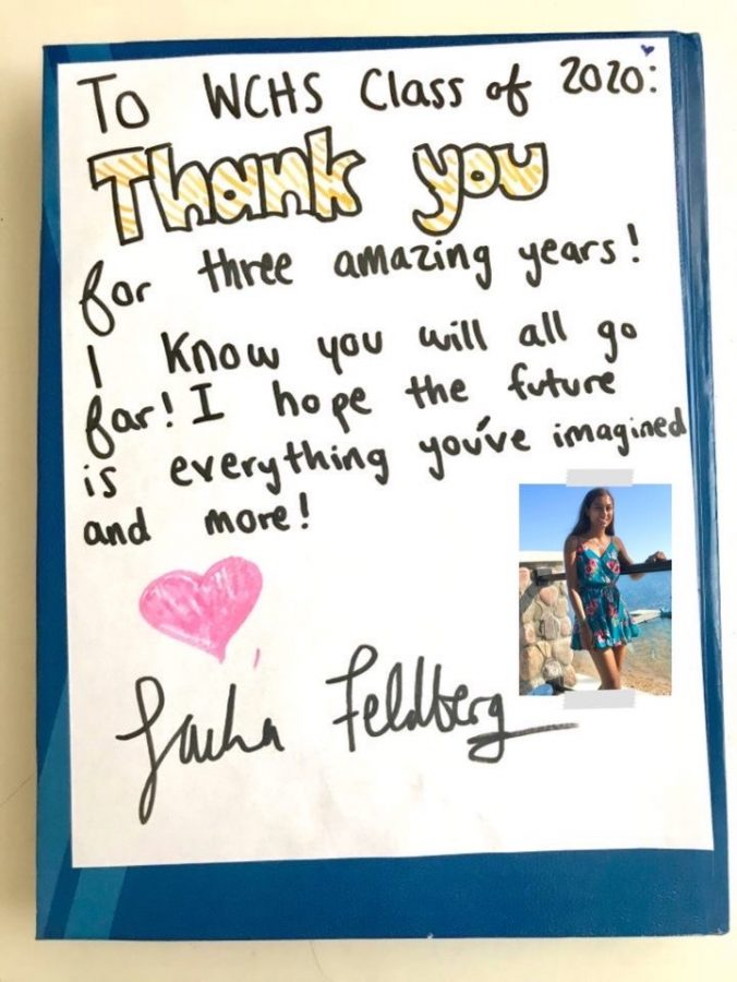 Senior Sacha Feldberg wrote a heartfelt note to the Class of 2020, in lieu of traditional yearbook signings.