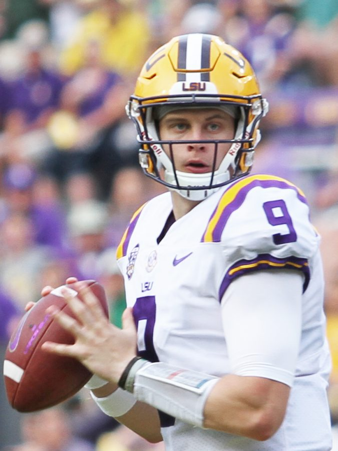 Joe+Burrow%2C+the+LSU+quarterback+who+led+his+team+to+a+National+Championship%2C+was+drafted+first+overall+by+the+Cincinatti+Bengals+in+the+2020+NFL+Draft.