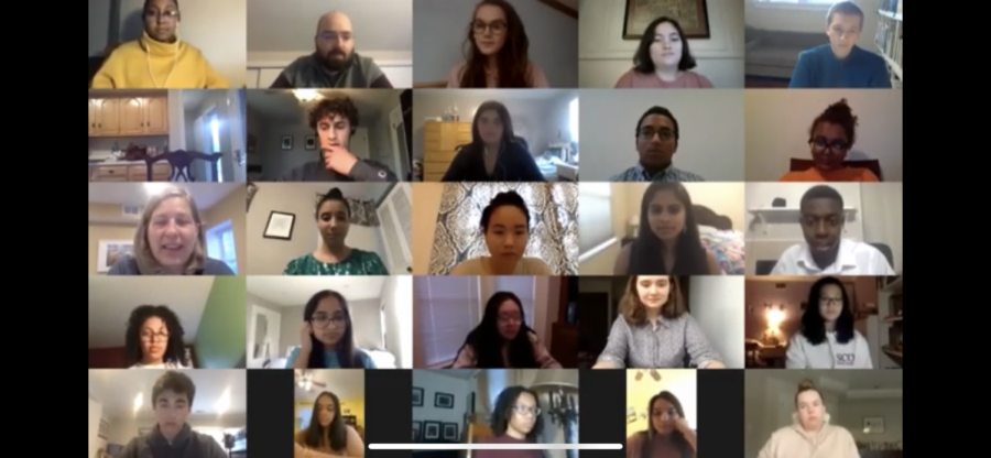 Students from all around the county came together to attend the virtual town hall hosted by councilman Tom Hucker. The town hall featured many different student activist groups, smob candidates, and student journalists