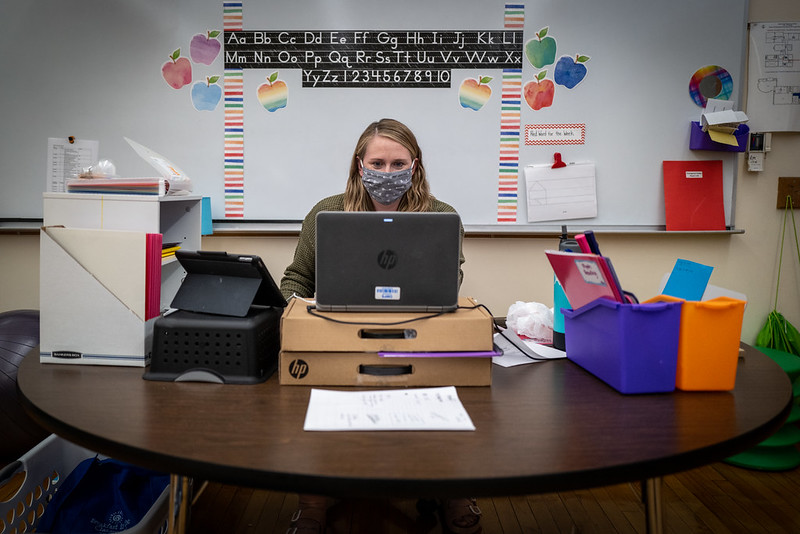 Due to the sudden switch to distance learning, teachers have had to adjust how to teach their lessons during the pandemic.