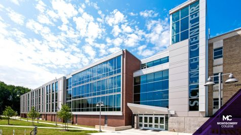 A view of a building at Montgomery College