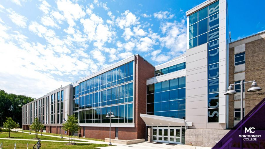 A view of a building at Montgomery College's Rockville campus. Because of COVID-19, classes in the Early College Program are being held virtually, instead of on campus.
