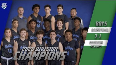 The 2020 WCHS Boys Varsity basketball team is shown in the picture with two of their coaches. The photo was taken at the beginning of the basketball season. The text next to the image shows how dominant the team was, starting their season off with a 7-1 record.