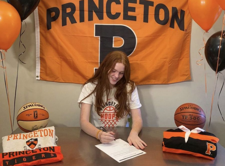 Hill signed to play women's basketball for Princeton University. After three years of hard work, she ended up committing to one of the first schools she talked to in the recruiting process.
