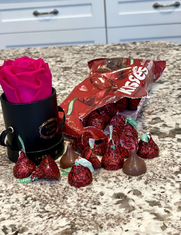 The perfect valentine for your signficant other is flowers and these Hershey Kisses Roses: Milk Chocolate Meltaway. The chocolates mimic the appearance of a rose and have a delish creamy taste that will get you in the spirit for Valentine's Day.