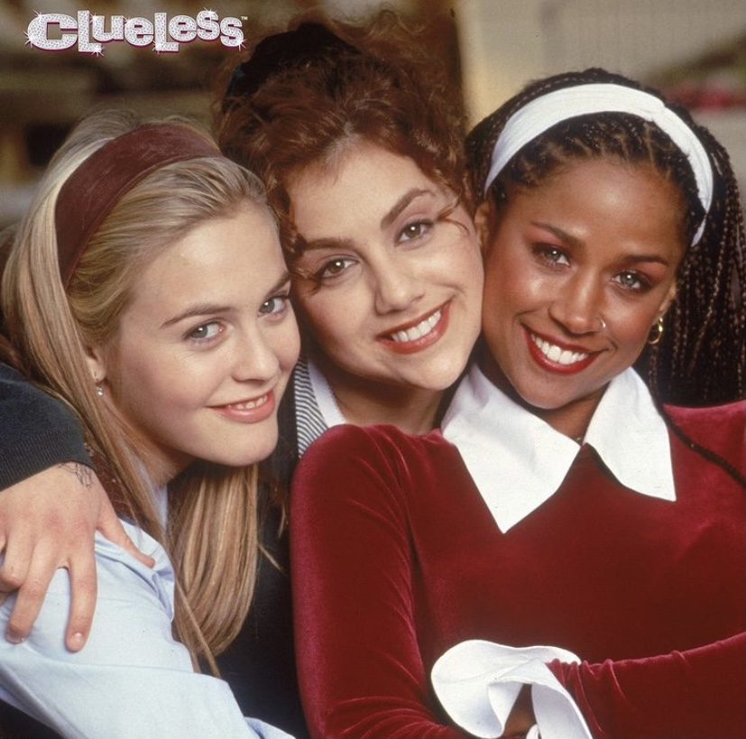 """Clueless"" is a 90s classic rom com that revolves around Cher (Alicia Silverstone) a Beverly Hills teen. Friendship was also an important theme with her hanging out with Tai (Brittany Murphy), and Dionne (Stacey Dash) for the majority of the movie."