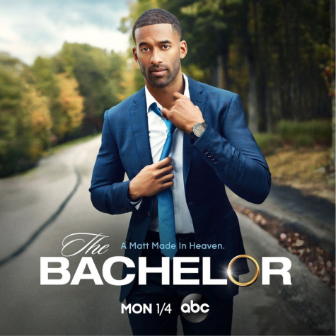 "A promotional poster for the upcoming season of ""The Bachelor"" shows the new lead, Matt James."