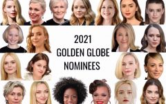 A graphic displaying the 2021 Golden Globe nominees for best actresses. Out of the 20 slots, the only two women of color nominated are Viola Davis and Andra Day.