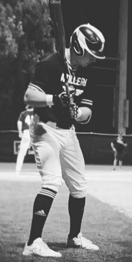 Wake+Forest+baseball+commit+Christopher+Hacopian%2C+gets+ready+to+hit+in+a+game+this+January.+He+took+his+talents+to+play+in+some+tournaments+in+hopes+of+a+spring+season.+++%0A