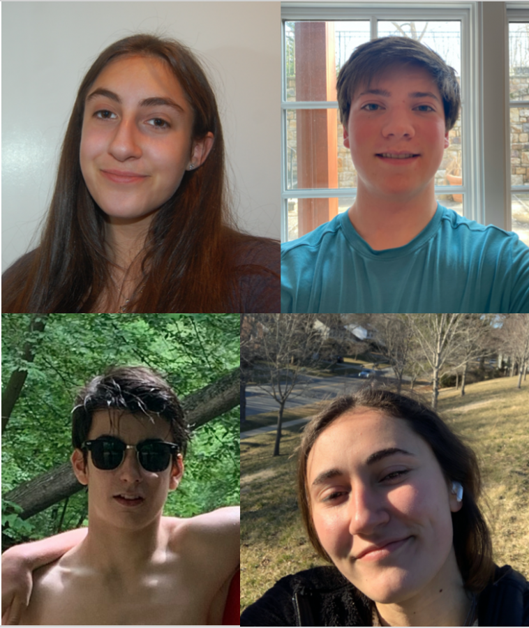 Clockwise from top left are freshmen Megan Demske, Jonah Goldberg, Lyndee Sklute and John McNelis. As freshmen are struggling to find connections, the Observer hopes to introduce a few new Bulldogs to readers.